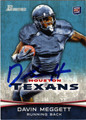 DAVIN MEGGETT AUTOGRAPHED ROOKIE FOOTBALL CARD #122812D