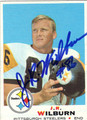 J R WILBURN PITTSBURGH STEELERS AUTOGRAPHED VINTAGE FOOTBALL CARD #122813J