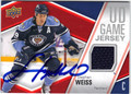 STEPHEN WEISS AUTOGRAPHED PIECE OF THE GAME HOCKEY CARD #123112E