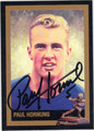 PAUL HORNUNG AUTOGRAPHED HEISMAN TROPHY FOOTBALL CARD #123013A
