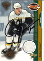 JAMIE LANGENBRUNNER DALLAS STARS AUTOGRAPHED & NUMBERED PIECE OF THE GAME HOCKEY CARD #12513P