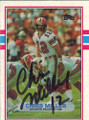 Chris Miller Autographed Football Card 1255