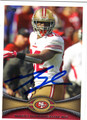 MARIO MANNINGHAM SAN FRANCISCO 49ers AUTOGRAPHED FOOTBALL CARD #12613F