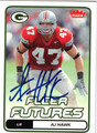 A J HAWK AUTOGRAPHED ROOKIE FOOTBALL CARD #12711E