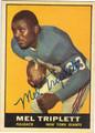 MEL TRIPLETT NEW YORK GIANTS AUTOGRAPHED VINTAGE FOOTBALL CARD #12813E