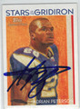 ADRIAN PETERSON MINNESOTA VIKINGS AUTOGRAPHED FOOTBALL CARD #12813H