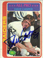 DAVE CASPER OAKLAND RAIDERS AUTOGRAPHED VINTAGE FOOTBALL CARD #12813L
