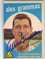 ALEX GRAMMAS ST LOUIS CARDINALS AUTOGRAPHED VINTAGE BASEBALL CARD #12813N