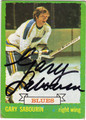 GARY SABOURIN ST LOUIS BLUES AUTOGRAPHED VINTAGE HOCKEY CARD #12913D