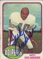 Dick Anderson Autographed Football Card 1298