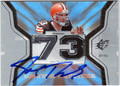 JOE THOMAS CLEVELAND BROWNS AUTOGRAPHED PIECE OF THE GAME ROOKIE FOOTBALL CARD #13013E