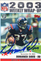 Domanick Davis Autographed Football Card 1302
