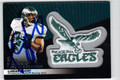 LeSEAN McCOY PHILADELPHIA EAGLES AUTOGRAPHED PIECE OF THE GAME FOOTBALL CARD #13113J