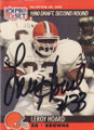 Leroy Hoard Autographed Rookie Football Card 1487