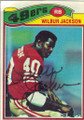 Wilbur Jackson Autographed Football Card 1689