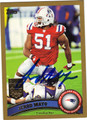 JEROD MAYO AUTOGRAPHED & NUMBERED FOOTBALL CARD #20312B