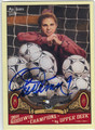 MIA HAMM AUTOGRAPHED SOCCER CARD #20513C