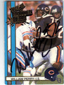 WILLIAM PERRY CHICAGO BEARS AUTOGRAPHED FOOTBALL CARD #20613D