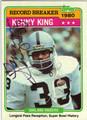 KENNY KING OAKLAND RAIDERS AUTOGRAPHED VINTAGE FOOTBALL CARD #20613i