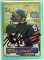 MIKE SINGLETARY CHICAGO BEARS AUTOGRAPHED FOOTBALL CARD #20613G