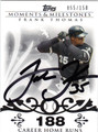 FRANK THOMAS CHICAGO WHITE SOX AUTOGRAPHED & NUMBERED BASEBALL CARD #20812Q