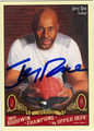 JERRY RICE AUTOGRAPHED FOOTBALL CARD #20812T