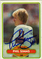 PHIL SIMMS NEW YORK GIANTS AUTOGRAPHED ROOKIE FOOTBALL CARD #20813M