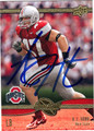 AJ HAWK AUTOGRAPHED FOOTBALL CARD #20911F