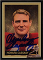 "HOWARD ""HOPALONG"" CASSADY AUTOGRAPHED FOOTBALL CARD #20912J"