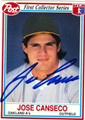 JOSE CANSECO AUTOGRAPHED BASEBALL CARD #20912S