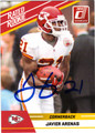 JAVIER ARENAS AUTOGRAPHED ROOKIE FOOTBALL CARD #20912E