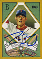 CLAY BUCHHOLZ AUTOGRAPHED ROOKIE BASEBALL CARD #21012G