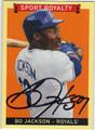 BO JACKSON KANSAS CITY ROYALS AUTOGRAPHED BASEBALL CARD #21113E