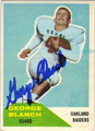 GEORGE BLANCH OAKLAND RAIDERS AUTOGRAPHED ROOKIE FOOTBALL CARD #21113H