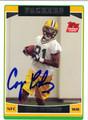 CORY RODGERS AUTOGRAPHED ROOKIE FOOTBALL CARD #21212J