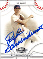 RED SCHOENDIENST ST LOUIS CARDINALS AUTOGRAPHED BASEBALL CARD #21213G