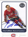 GUY LAFLEUR MONTREAL CANADIENS AUTOGRAPHED HOCKEY CARD #21513C