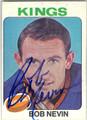 BOB NEVIN LOS ANGELES KINGS AUTOGRAPHED VINTAGE HOCKEY CARD #21913C