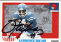 LAWRENCE TAYLOR AUTOGRAPHED FOOTBALL CARD #22313C