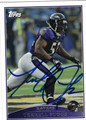 TERRELL SUGGS BALTIMORE RAVENS AUTOGRAPHED FOOTBALL CARD #22313J