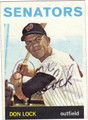 DON LOCK AUTOGRAPHED VINTAGE BASEBALL CARD #22412A
