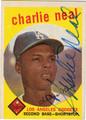 CHARLIE NEAL AUTOGRAPHED VINTAGE BASEBALL CARD #22412D