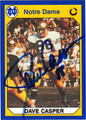 DAVE CASPER AUTOGRAPHED FOOTBALL CARD #22312V