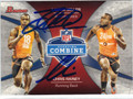 LAMAR MILLER & CHRIS RAINEY DOUBLE AUTOGRAPHED ROOKIE FOOTBALL CARD #22413J