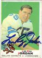 LEE ROY JORDAN AUTOGRAPHED VINTAGE FOOTBALL CARD #22512D