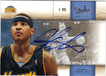 CARMELO ANTHONY DENVER NUGGETS AUTOGRAPHED BASKETBALL CARD #22513D