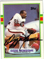 OZZIE NEWSOME CLEVELAND BROWNS AUTOGRAPHED FOOTBALL CARD #22513J