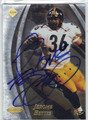 JEROME BETTIS PITTSBURGH STEELERS AUTOGRAPHED & NUMBERED FOOTBALL CARD #22713B