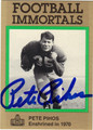 PETE PIHOS AUTOGRAPHED FOOTBALL CARD #22812J