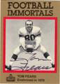 TOM FEARS AUTOGRAPHED FOOTBALL CARD #22912H